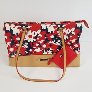 Tommy Hilfiger Floral Bag With Matching Pouch